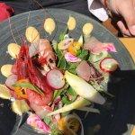 Raw prawns salad