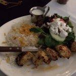 Persian kebab plate