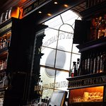 Mirror behind the bar