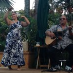 Hawaiian music and hula during dinner