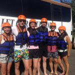 Our guest on before start for white water rafting at Ayung river