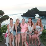 @Tanah Lot Temple during sunset time.