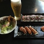 Yumm. Best combo Japanese food and Japanese beer!