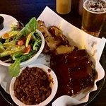 Smoked Ribs Chicken Wings House Salad Beans, Lager!