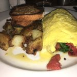 Short rib hash and omelette