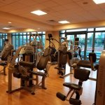 partial view of spacious fitness room