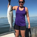We caught some nice striper bass!