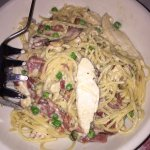 Chicken Carbonara, small family style