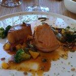 cochon franc-comtois , asperges...