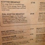 Next time if hungrier the Scottish breakfast sounds better value?