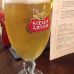 A nice pint of stella too
