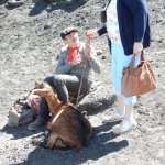 A goatherd on Mount Etna.