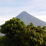 Mt. Mayon from Mayon Room, Balay Dela Rama.