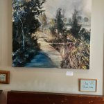One of the artworks on display at Cafe Mila