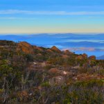 View to south over Hobart
