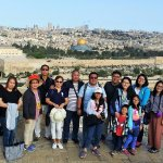 On Mt of Olives overlooking the old city of Jerusalem!