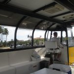A covered Water Taxi