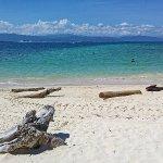 View of a beach on Mamutik Island