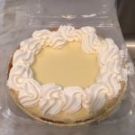 Untouched key lime pie .... how many slices need cut? One please.