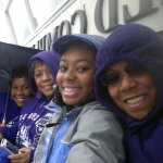 Attending the outdoor TCU track and field invitation. Some of the track and field team mates
