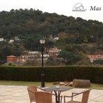 La terraza de Mas Corts