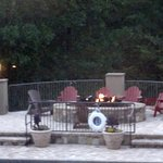 Fire Pit Poolside Deck