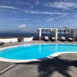 Hotel pool and purple private villa