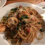 Calypso shrimp pasta