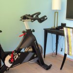 exercise bike in room