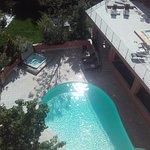 vue du nouvel ensemble terrasse piscine