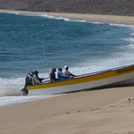 boat coming to shore
