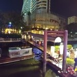 dining in the boat while sailing Chao Praya river