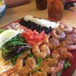 So. Good. Grilled shrimp tacos.