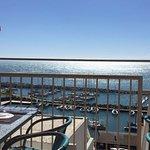 Vista desde la terraza al Club de yates de Huguerillas