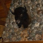 Bison Over Fireplace