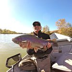 Todd Fearon with a Feather River toad!