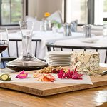 Wine and cheese pairing in the Edson Hill dining room
