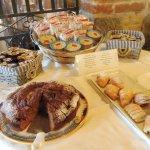 croissants, cakes, jam