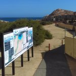 Santa Maria paved path to the beach & construction on the right