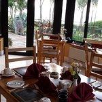 Breakfast room over looking the garden & sea