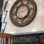 Beautiful Clock above Sandwich Board