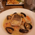 Hake in a mussel sauce