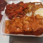 Lunch take out $9.99 special  including naan bread, to go from buffet