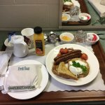 Huge, hot breakfast, delivered to room!