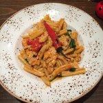 Sticky Chicken pasta