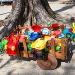 Toy cart on the beach
