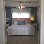 french doors open to the bedroom in our 1 bdrm suite!