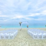 Beach House beach with my wedding set-up .. so stunning!