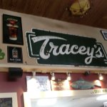 Inside Tracey's pub