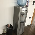 Gym first thing in the morning - empty water machine, full bin (with beer cans!)